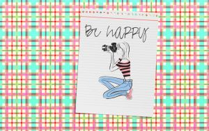 Wallpaper Be Happy by belubelll