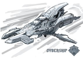 Cybership by manmonkee