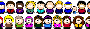 South Park Pixel Art - Set 1 by KaiserRangerPH12345