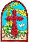 Stained Glass Cross by musicqueen110