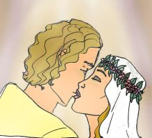 DH Deirdre and Garrett kiss by Selinelle