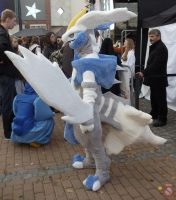 White Kyurem cosplay fursuit SIDE VIEW