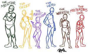 A Character Line-Up by InfernoTornado