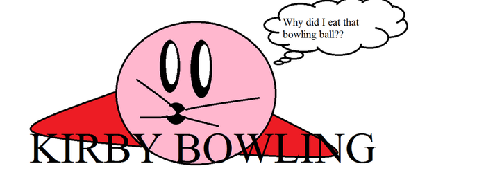 Kirby ate a Bowling Ball by IvyDevi