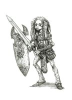Gelfling warrior by eoghankerrigan