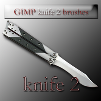 GIMP knife 2 brushes by feniksas4
