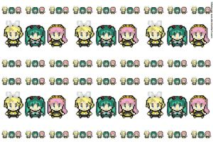 wallpeper 8 bits vocaloid by hitokage-san