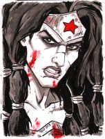 6x8 Warm Up Art WONDER WOMAN by TessFowler