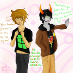 Hetastuck: Exchange clothes with your moirail. by Apple16thief