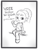 Vanellope Von Schweetz For President! by Inkintime