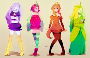 adventure time princesses by chuwenjie
