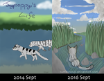 Comic Cover Comparison [2 year difference!] by TurtlezSoup