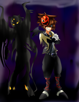 Soraxess and Sora- Halloween insane by Absolhunter251