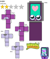 Moshi Monsters: Gabby Papercraft by GoldStealthElf