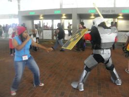 Otakon 2013 - Sir Daniel vs. Parappa by mugiwaraJM