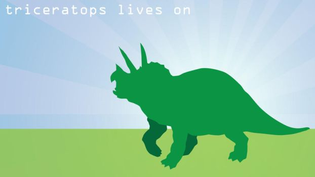 Triceratops Lives On by Vectriss