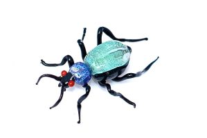 Green Beetle glass sculpture by resd2013