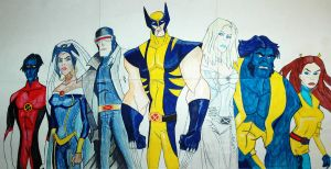 Wolverine and the X Men by dimebagsdarrell