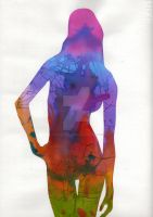 Colored silhouette by AlessandraPlasterpad