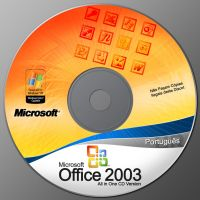 Microsoft Office 2003 CD + PSD by v1t0rSouz4