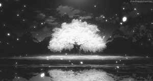 The Sakura tree by Koymija