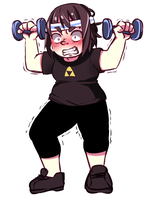 I work out by R0cket-Cat