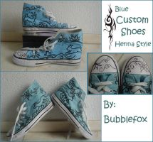 Custom shoe pair - Henna style by Bubblefox