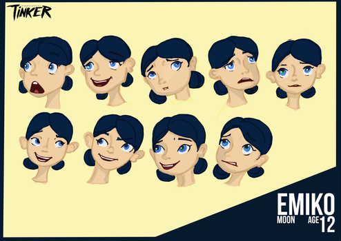 Character Sheet - Emiko Moon by frenchemily