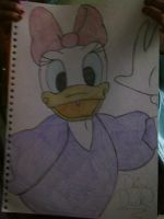 Daisy Duck by littleblackmariah