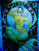 Yuyi the mermaid by electroblood77