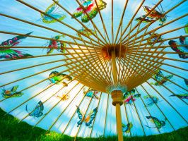 Parasol lights by Fruits-and-Spears