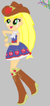 Applejack Equestria Girl by HamaBeadsPonies