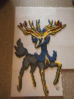 Xerneas Perler beads Commission by Cimenord