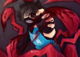 [Doodle] Ghoul!Cry - Stronger than you by Nadi-Chan