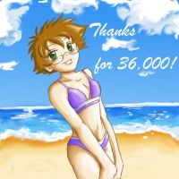 Thanks for 36000 hits :D by Demyrie