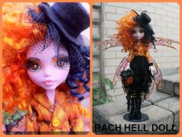 monster high custom repaint Halloween fairy mh by Rach-Hells-Dollhaus