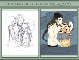 From sketch to finish meme by LilithIrina