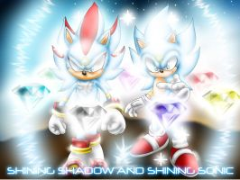 Shining Sonic and Shadow by chazolave