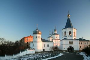 Winter evening. Old monastery. by Nickdan