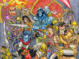Fantasy Xmen by badgerlordstudios