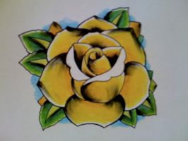 Yellow rose by Kirzten