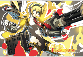 [WALLPAPER]Aigis Persona 4 Power and Destruction by WizardM