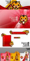 Happy tiger year by JOMMANS