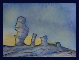 Manpupuner rock formations by ArmelleS