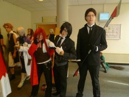 the shinigamis and Butler - Abunai 2011 by BeforeTheMomentGirl