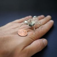 Mechanical Spider No 29 (hand for scale) by AMechanicalMind