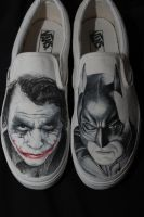the dark night shoes by mattcoryart