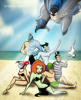 Summer in Gotham City by Christ-Off