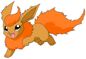 Fire the Flareon by Mint-Apples