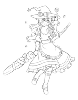 Rough Draft - Marisa by Rinselli-chan